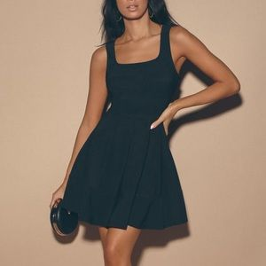 Lulu's Black Flare Dress